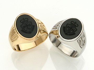ADFA Black Stone Signet Ring 2
