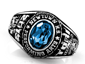 Newtown High School of the Performing Arts Achiever Graduation Ring (NHSPA)