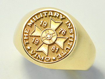 Russian Military Institute Round Signet Ring RMI 2