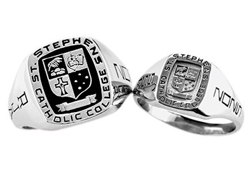 St Stephens Catholic College Square Signet Ring